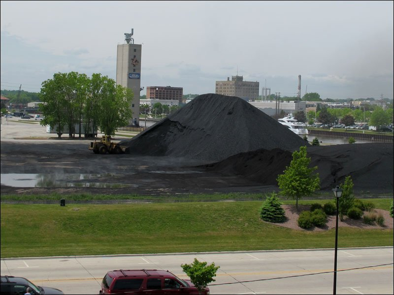Coal pile in Manitowoc (fuel for the ship)