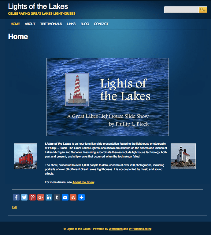 Lights of the Lakes Home Page