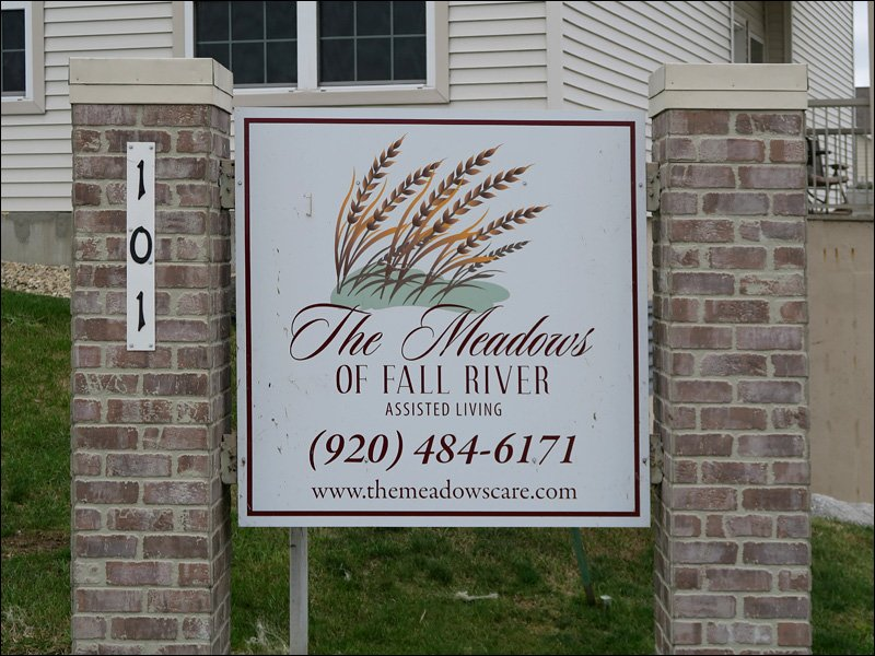 The Meadows of Fall River Sign