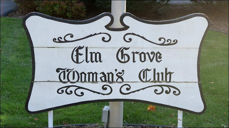 Elm Grove Woman's Club Sign