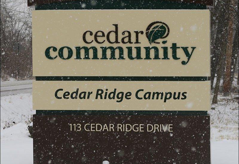 Cedar Ridge Campus Sign