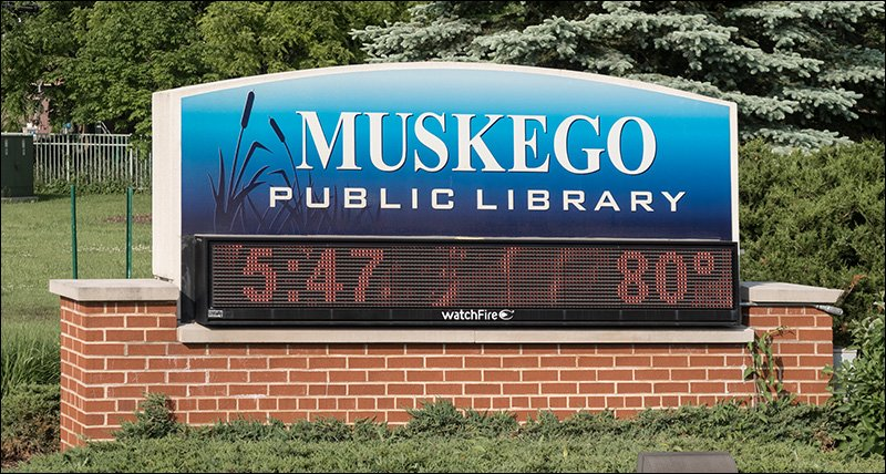 Muskego Public Library Sign