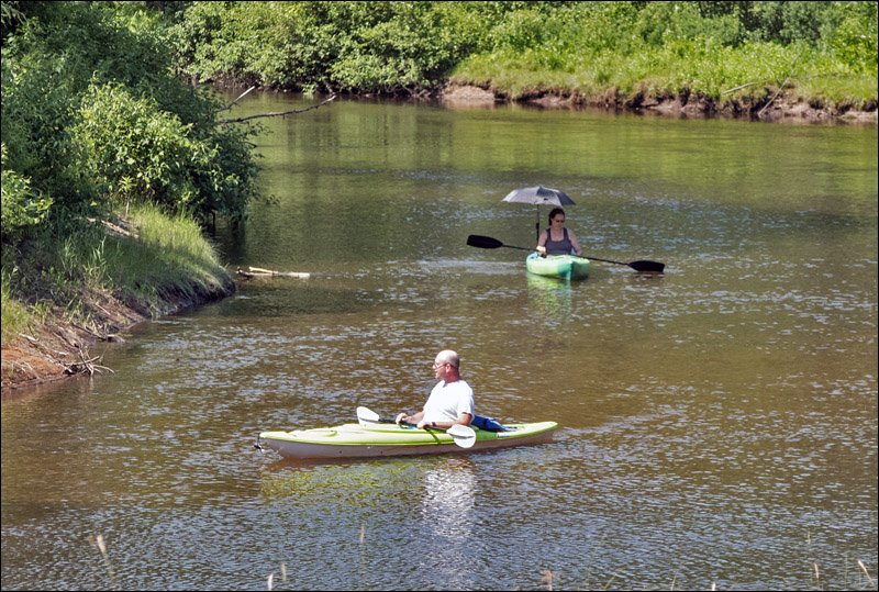 Kayakers on Muskegon River