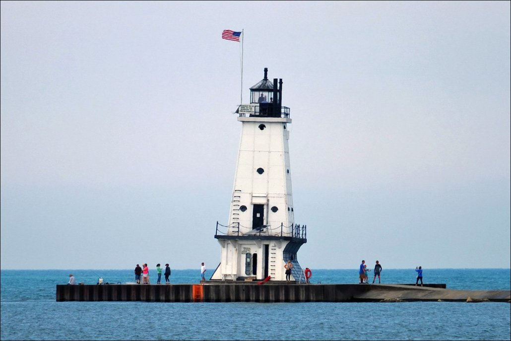 Ludington North Breakwater Light - Daytime