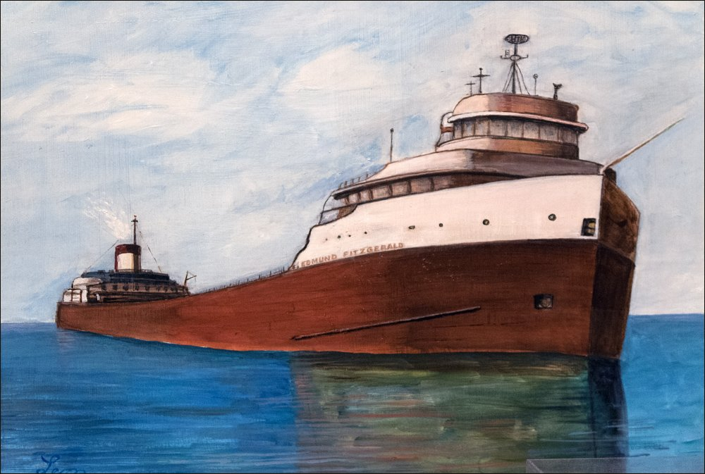S.S. Edmund Fitzgerald Painting