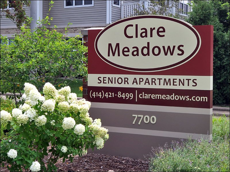 Clare Meadows Sign