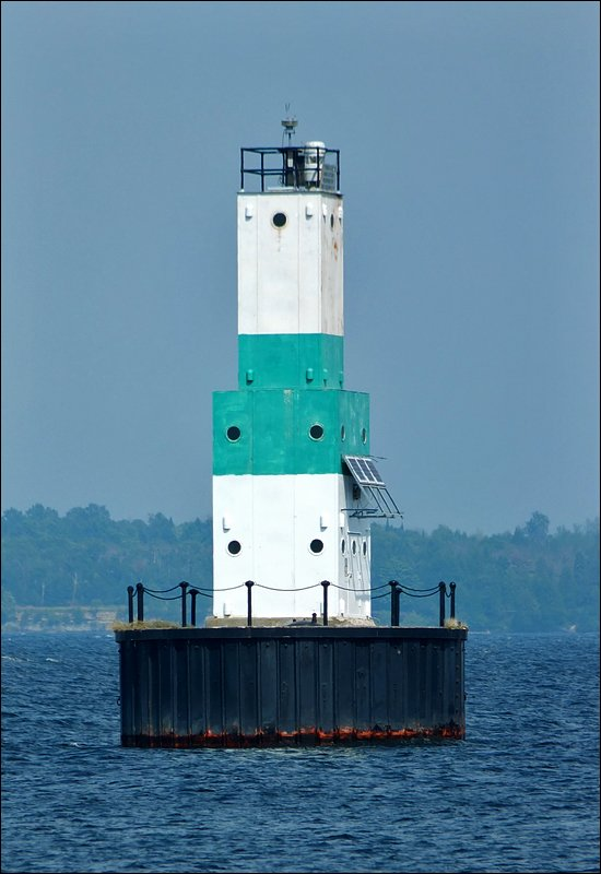 Escanaba Harbor Lighthouse (Offshore from Sand Point)