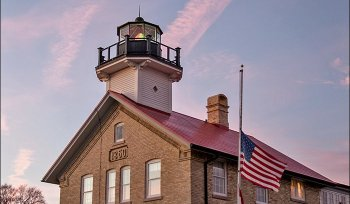 Port Washington 1860 Light Station at Christmas
