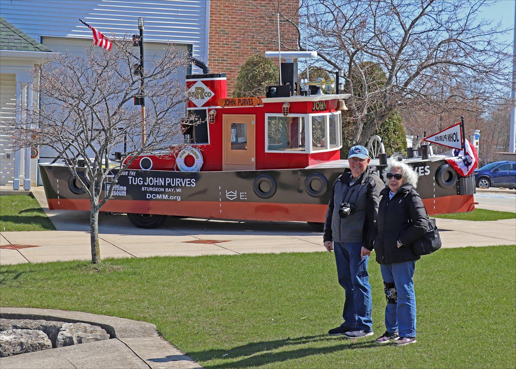 Photo friends Howard Vrankin and Linda Lee at the Door County Maritime Museum