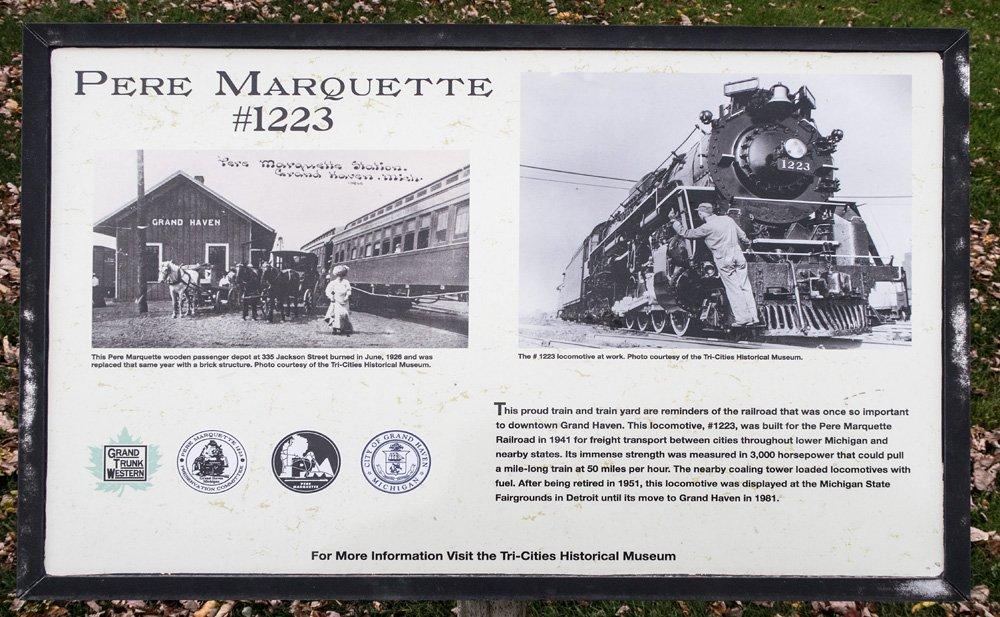Pere Marquette #1223 Plaque