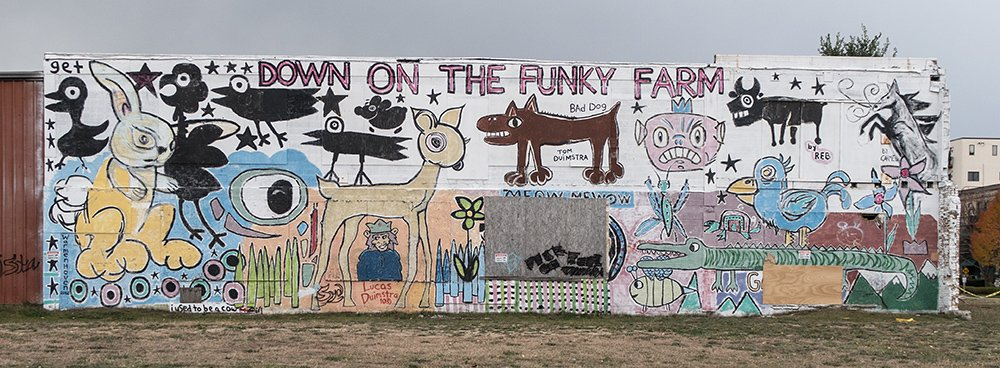 Down on the Funky Farm mural in Grand Haven