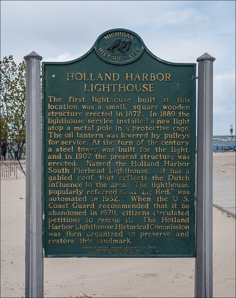 Holland Harbor Lighthouse Historical Marker