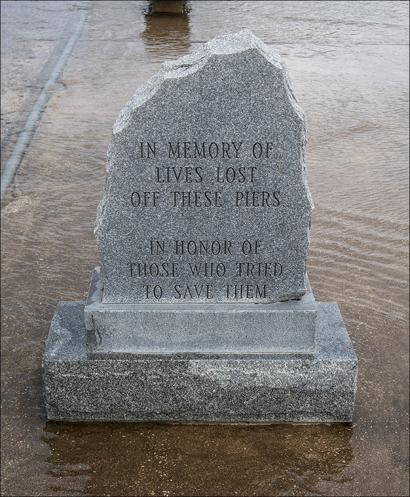 Memorial to those who lost their lives on the pier
