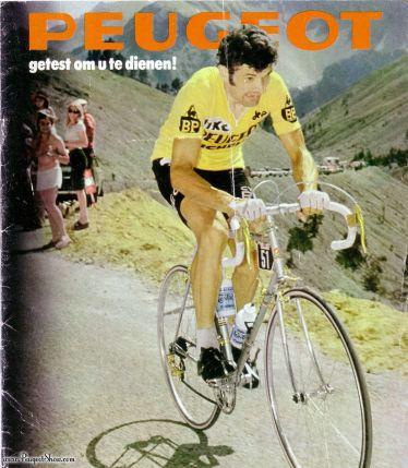 Bernard Thevenet on a PL10 in 1975 in the Tour De France