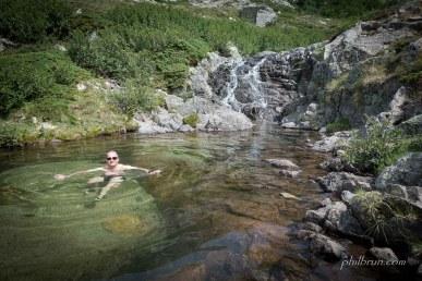 La vasque du refuge de l'Onda