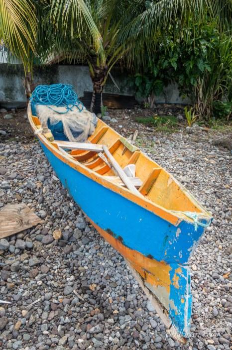 Bateau de pêche sur l'île Dominique