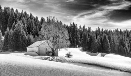 Paysage de neige Jurassien