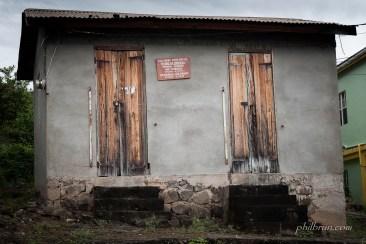 Bureau de poste de Salisbury sur l'île Dominique