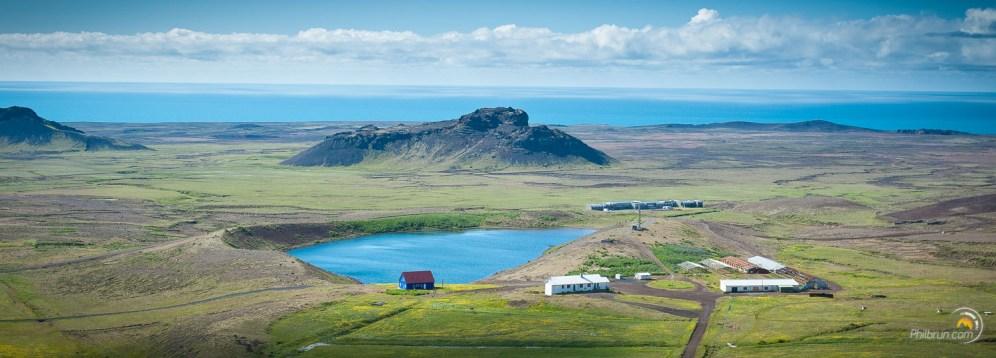 Panorama depuis le haut de Krýsuvík
