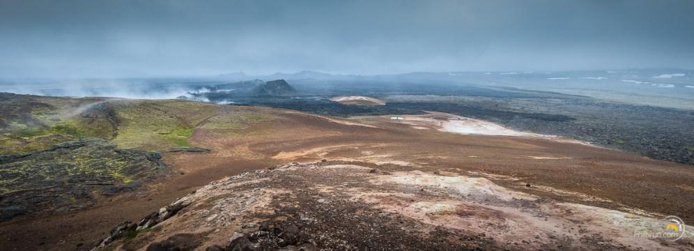 Du sommet du site on découvre l'étendue de la zone volcanique !