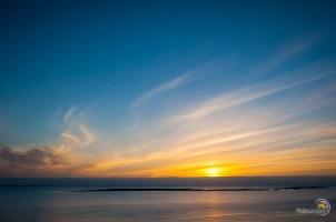 Coucher de soleil au large de Reykjavik