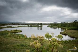 Le plan d'eau au pied de la faille de Thingvellir