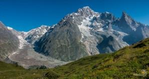 Le glacier du Miage et l'aiguille noire de Peuterey