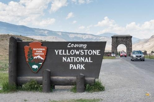 Une des portes de sortie au nord ouest du parc de Yellowstone. À la sortie les paysages sont toujours aussi grandioses !