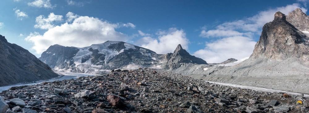 au centre du glacier d'arolla