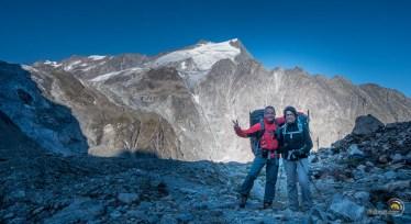 Arrivée au pied du glacier d'Arolla