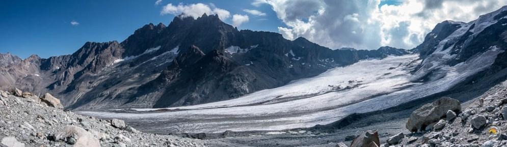 Vue panoramique du glacier d'Arolla