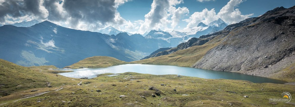 Panoramique sur le lac d'Autannes