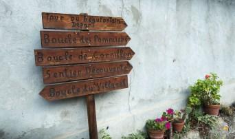 Panneau au départ du tour du Beaufortain