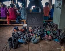 Chaussures au séchage