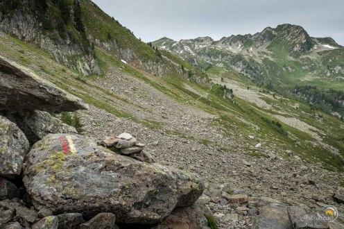 Sentier et marquage du tour du Beaufortain