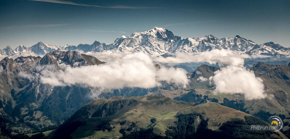 Le massif du Mont Blanc depuis la Tournette