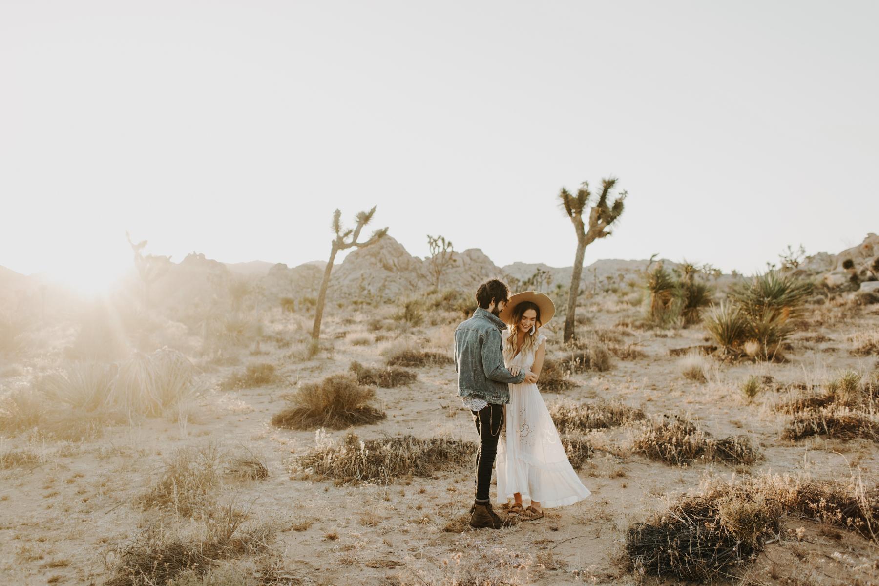 Joshua Tree Engagement Photos  Portland Wedding Photographer