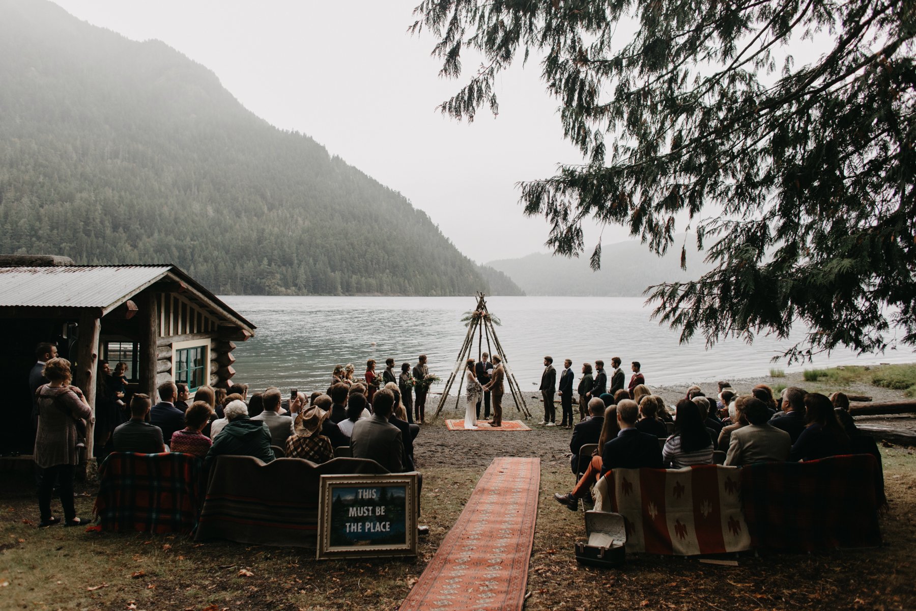 Campground Wedding  Portland Wedding Photographer