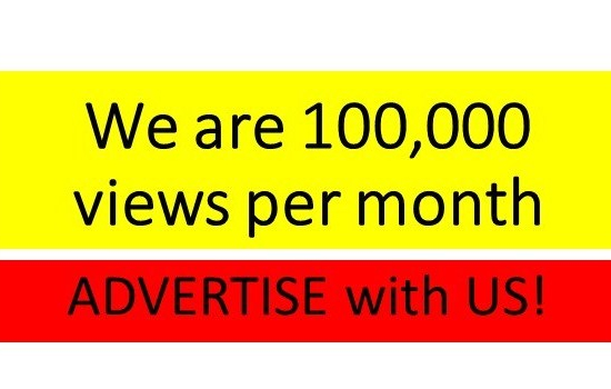 We are 100,000 views per month