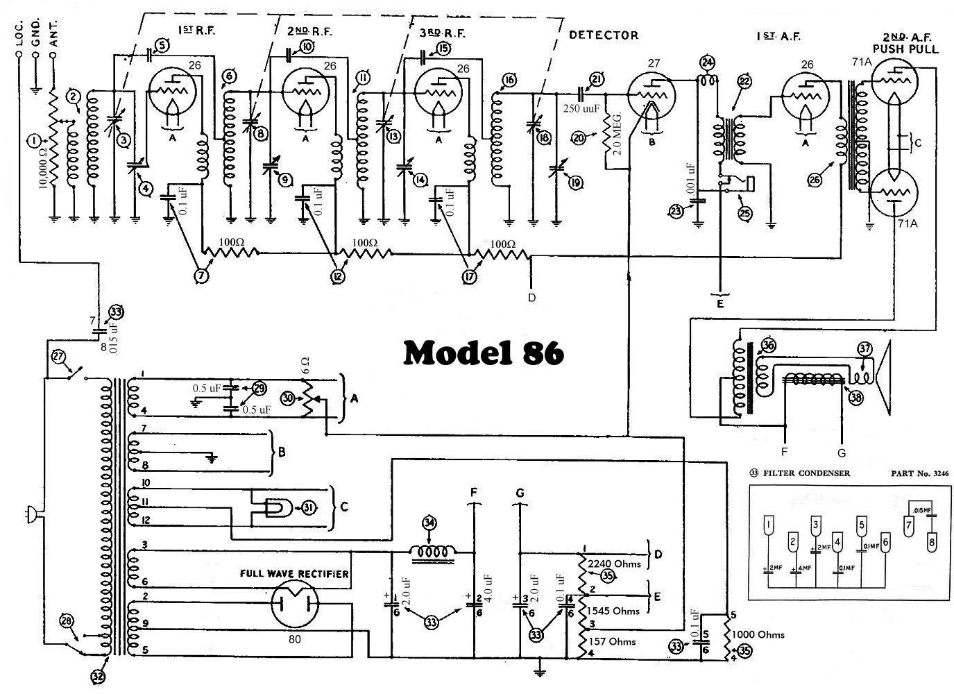 modern wiring diagram philco 71