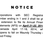 SEC Filing for Corporations with Registration No. Ending 1 and 2