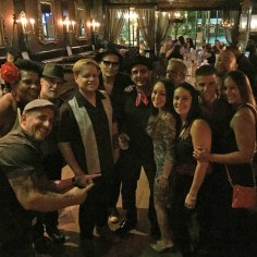 With friends and fans at Treme Islip, Long Island.