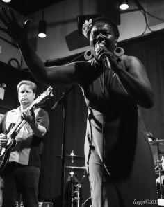 Phil Gammage and guest vocalist Felice Rosser. B.B. King Blues Club, New York. N.Y. Photo by Lynn Cappiello.