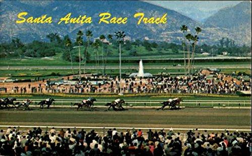 Santa Anita Race Track. Postcard 1970.