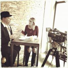 Filming the interview/feature for My Jam Music TV Network at Bar Prima in New York City. With host Jo Sanford.