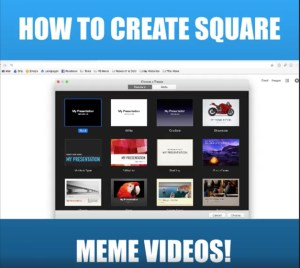 How To Make Square Videos With Keynote Quick & Easy