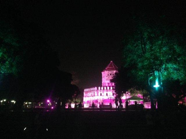 Old Fort Phra Sumera, Bangkok on New Year's eve
