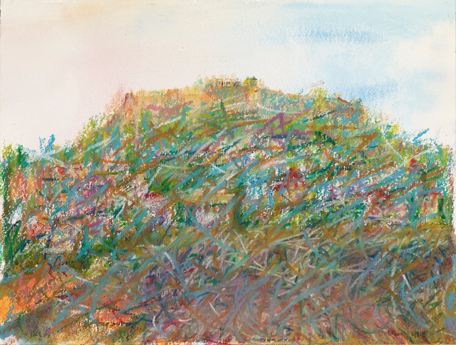 Abstract watercolour study of the Acropolis by David Pearce