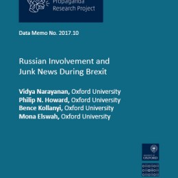 Russian Involvement and Junk News during Brexit