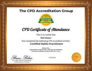 CPD Accrediterd Certified Habits Practitioner - Certificate